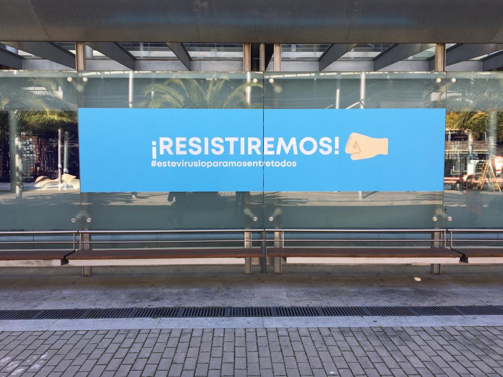 IFEMA se llena de mensajes optimistas para animar al personal sanitario